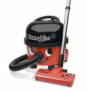 NUMATIC HVX200A2 Henry Xtra Vacuum Cleaner, 580 Watt, Red/Black