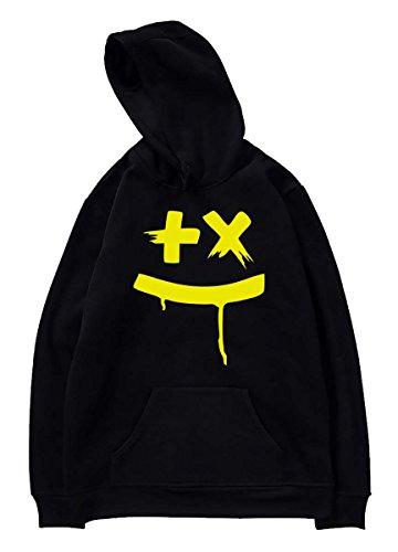 SIMYJOY Amants DJ Martin Garrix Fans Sweats à capuche Cool GRX Son électrique Pulls Pour Hommes Femmes Adolescents Noir B