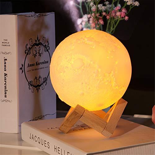 Cheng L Luftbefeuchter 3D Mond Lampe licht Diffusor Aroma Ätherisches Öl USB Ultraschall Humidificador Nacht Kühlen Nebel Luftreiniger USB Lade Nachtlicht Startseite Nachtlicht