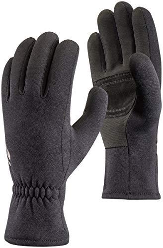 Black Diamond Gants MidWeight ScreenTap - Gants tactiles en polaire stretch - Avec paume en cuir suédé - Idéaux comme sous-gants / Unisexe, noir, taille XL
