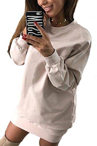 Les Femmes L'hiver Occasionnel Pull Vêtements Sweat - Shirt Plus Solide pink