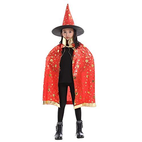 Baby Kostüm Killer - SEWORLD Baby Halloween Kleidung,Niedlich Kinder Erwachsene Kinder Halloween Baby Kostüm Zauberer Hexe Mantel Cape Robe + Hat Set Freie Größe