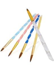FACILLA® 5X PINCEAU ACRYLIQUE T4/6/8/10/12 NAIL ART MANUCURE PRO