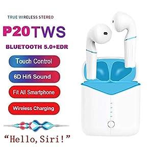 Smart Touch Bluetooth 5.0 Funkkopfhörer 6D Stereo Sound Super Bass Headset mit kabelloser Aufladung P20 TWS
