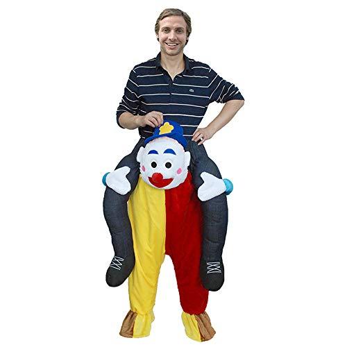 Dame Kostüm Mann Reiten Alte - JIASHU Herren Damen Halloween Huckepack Witziges Kostüm - mit Stuff Your Own Legs, Witzige Kostüme für Erwachsene - Ride On Costume - Carry Me Costum