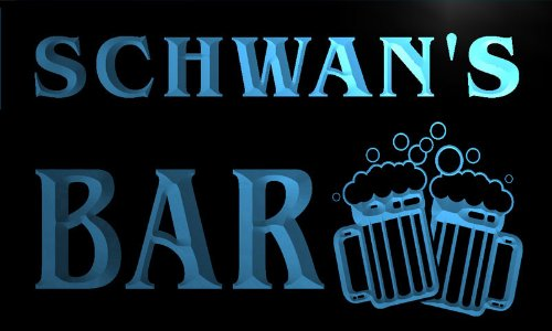 w014367-b-schwan-name-home-bar-pub-beer-mugs-cheers-neon-light-sign