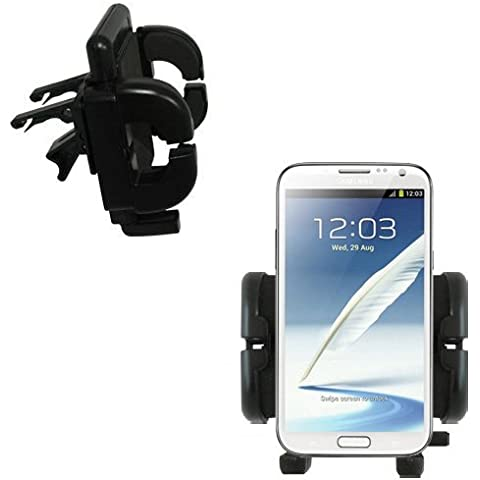 Alloggiamento per Auto con Aggancio Alla Presa D'aria per Samsung Galaxy Note II con Garanzia a vita