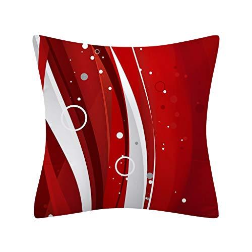 FELZ Fundas de Almohada Decorativas con Diseño de Navidad Funda de cojín de Navidad 45x45cm Impresión...