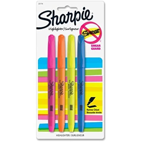SANFORD CORP - 4-Pack Pocket Accent Highlighters