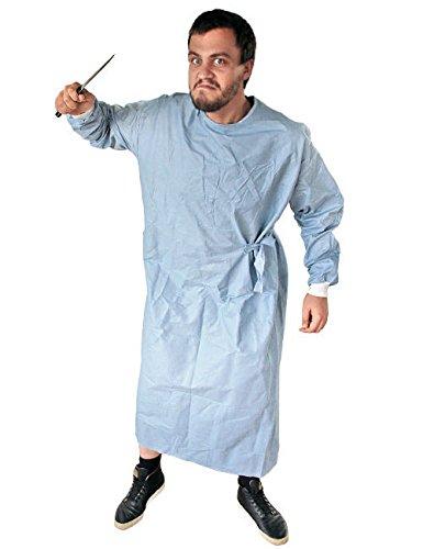Doktor OP Mantel Original Arztkostüm hellblau -