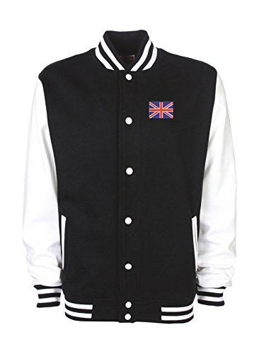 College Jacke bestickt mit Großbritannienfahne Englandfahne und bedruckt mit England Unisex, oder individuell gestaltbar