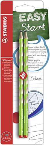 Stabilo easygraph s matita ergonomica fusto sottile hb verde per destrorsi - blister da 2