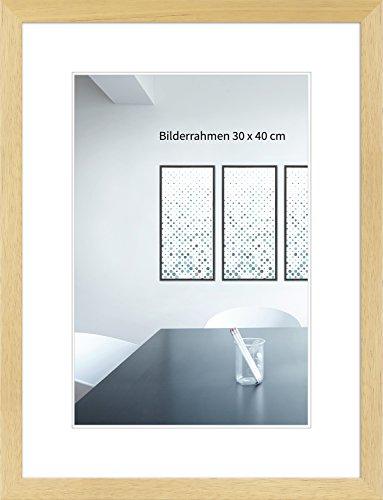 Wandstyle - cornice H430 in legno massiccio - stile moderno - con vetrino - nature - 29,7 x 42 (A3) cm