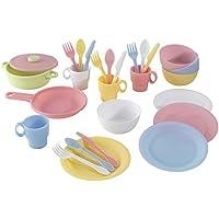 Kidkraft-27 Piece Cookware Playset-Pastel Accesorios para Cocina, Multicolor (63027)