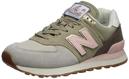 New Balance - - Damen WL574V2 Schuhe, 39 M EU, Light Cliff Grey/Light Gold (Balance New Gold Frauen)