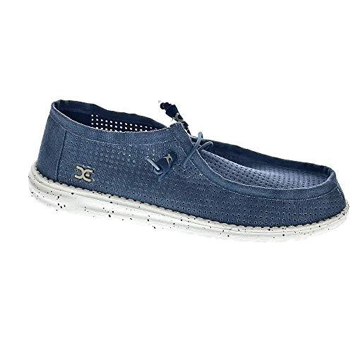Scarpe uomo color Blu marca HEY DUDE modelo Scarpe Uomo HEY DUDE WALLY PERFORATED Blu