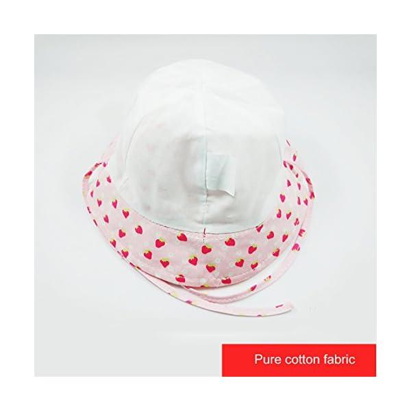 Happy Cherry - Sombrero Pescador para Bebés Recien Nacido Niñas 0 Meses-4 años Suave Gorro de Sol con ala Infantil para… 2