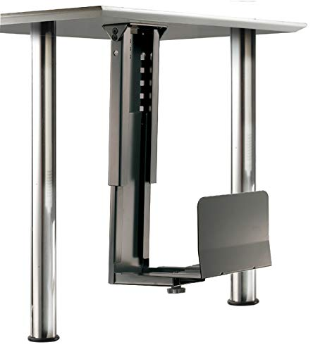 ROLINE PC Halterung | Computerhalterung Untertisch | Tischhalterung in schwarz - Rechner Mit Halter