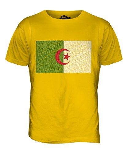 CandyMix Algerien Kritzelte Flagge Herren T Shirt Dunkelgelb