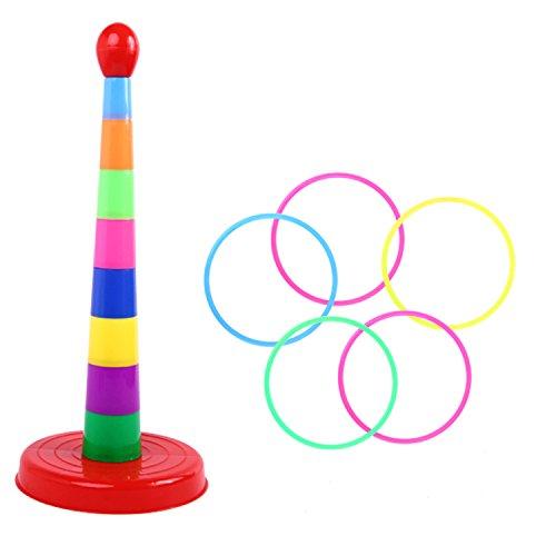 piele Set,Aktivitätsringe,Multicolor Kunststoff Ringe werfen,Für Geschwindigkeits- und Beweglichkeits-Trainingsspiele, Bunt ()