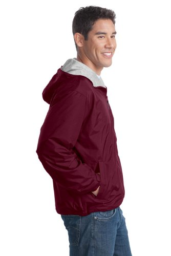 Port Authority - Blouson - Homme Rouge - Maroon/LtOxf