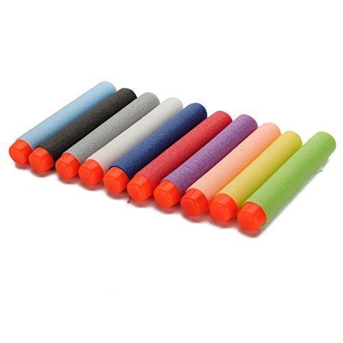 Merssavo 100pcs Schaum Darts Nerf Spielzeug-Gewehr Refill Bullet for Kids 2.84in (7.2cm) Darts für N-Strike Elite Series