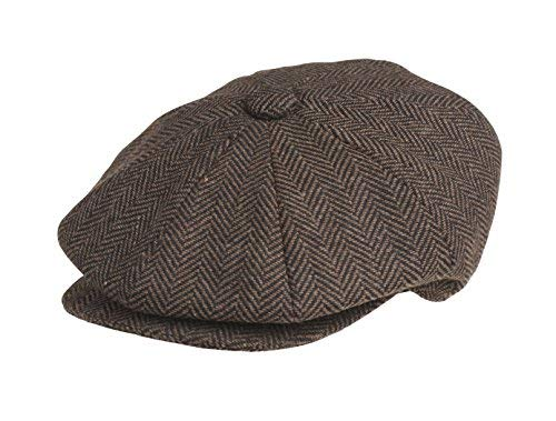 Peaky Blinders - Basco scozzese - Uomo marrone Dark Brown Herringbone Medium 81ff5f91fda2