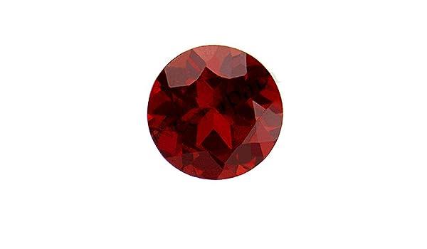 Neerupam Collection Rouge Fonc/é Couleur Naturelle Mozambique Grenat AA Qualit/é 4 mm Taille Facettes Rond Forme Pierres pr/écieuses en Vrac