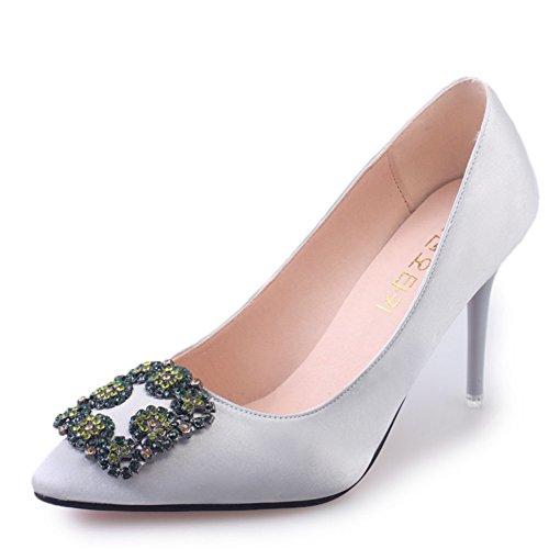 Talons fashion Lady le printemps/Chaussures à talon pointus/shallow côté boucle chaussures femme hauteur du talon 7cm