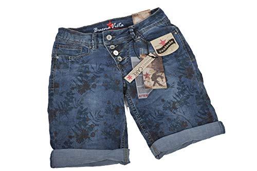 Buena Vista Damen Jeansshorts Malibu Regular Fit blau (51) XXS