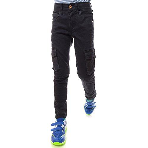 GP Creation Coole Jeans Hose Jungen Kinder Riss Röhre-Jeans Strech-Jeans 21753, Farbe:Anthrazit, Größe:140 (Jungen Jeans Größe 12)