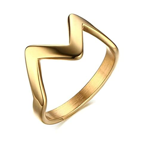 Epinki Stainless Steel Ring, Womens Mens Wedding Bands Gold Crown,Width 3MM Size R 1/2