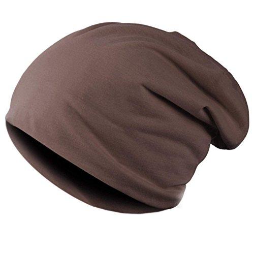 Minetom Beanie Capello Cuffia In Cotone Lunga Cappello Alestra Unisex Berretto Cap In Maglia ( Caffè )