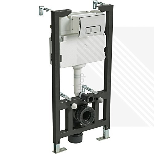 CYCLONE CONCEALED UNIVERSAL 1.0 - 1.2M WALL HUNG WC FRAME AND CISTERN WITH FLUSH PLATE by Arley Professional: Cyclone -