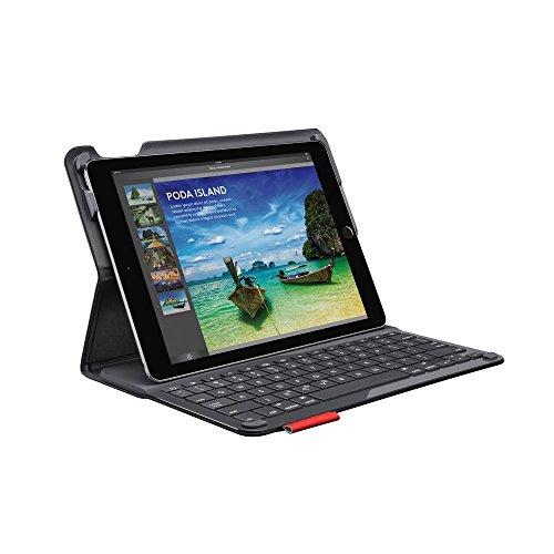 Logitech iPadAir2 Tastatur-Case (Type + mit kabelloser Tastatur und Bluetooth, QWERTZ Deutsches Tastatur-Layout) schwarz (Logitech Type Ipad 2)