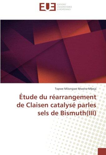 Etude du rearrangement de Claisen catalyse parles sels de Bismuth(III) par Topwe Milongwe Mwene-Mbeja