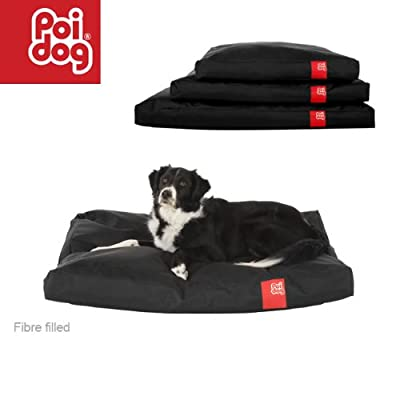 Poi Dog® Large Dog Bed - BLACK Poly Canvas Duvet Dog Beds in BLACK - Large / Medium Dogs (41)