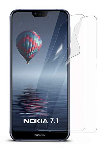 moex 2X Nokia 7.1 | Schutzfolie Klar Bildschirm Schutz [Crystal-Clear] Screen Protector Display Handy-Folie Dünn Bildschirmschutz-Folie für Nokia 7.1 Bildschirmfolie