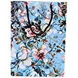 Arrow Paper Products Art Rose Flower Bags for Gifting, Weddings, Birthday, Holiday Presents (Pack of 10, 28x20x7.5 cm)