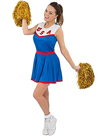 Costumes Ladies Fancy Dress - Adult Ladies American Cheerleader Fancy Dress Costume