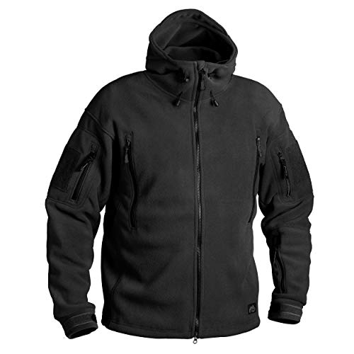 Helikon-Tex Patriot Jacke -Double Fleece, Large, Schwarz Fleece-jacke