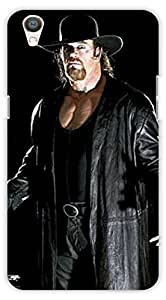 Crazy Beta Undertaker Wwe Restler Printed Back Cover For Oppo F1 Plus