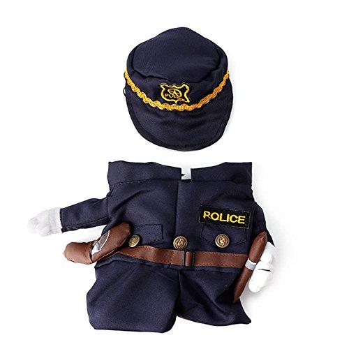 slylive Polizist Haustier Kleidung Sailor Outfit für Katzen Hunde