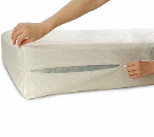 llersoft Bettwanzen-, Staubmilben- & Allergiekontroll-Matratzenschutzumhüllung aus 100 Prozent Baumwolle, 90 x 200 x 25 cm