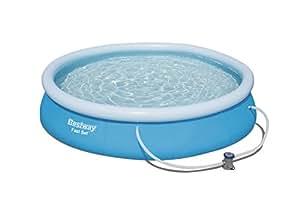 Bestway Fast Set Pool, rund,mit Kartuschenfilterpumpe, blau, 366 x 76 cm