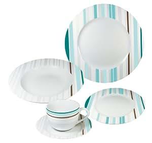 arte viva 117203 kaffee und tafelservice smeralda 30 teilig porzellan rund t rkis design by. Black Bedroom Furniture Sets. Home Design Ideas