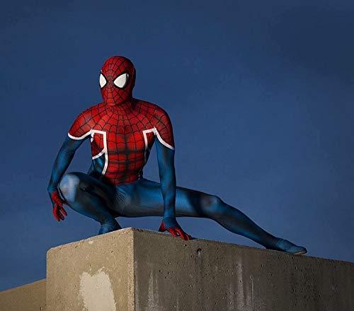 POIUYT 3D-Spider-Man-Strumpfhose Spandex Mit Digitaldruck Zentai Realistic Comics Halloween-Cosplay Der - Comic Körper Anzug Kostüm