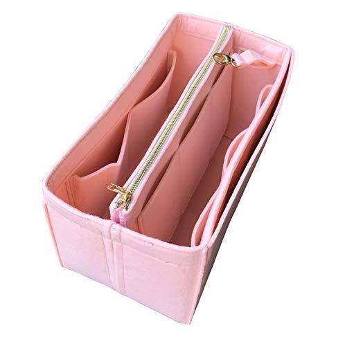 JennyKrafts Inserto per borsa (3mm in feltro, pochette rimovibile con cerniera in metallo dorato), tasche per organizer per borse tote