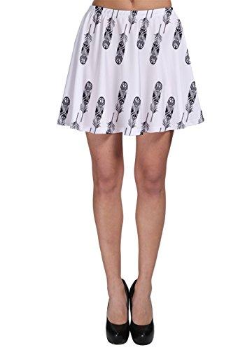 CowCow - Jupe - Femme Multicolore noir/blanc blanc/noir