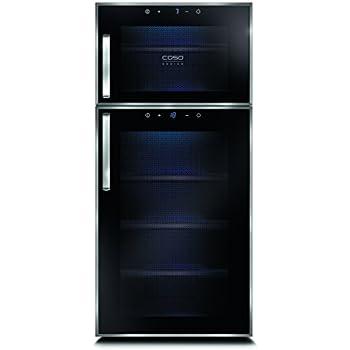 CASO WineDuett Touch 21 Design Weinkühlschrank für bis zu 21 ...
